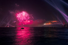 Firework And Light Show Royalty Free Stock Photography