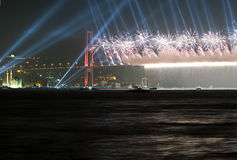 Firework And Light Show Royalty Free Stock Photo