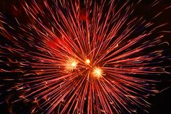 Firework background. One big firework on black background Royalty Free Stock Photos