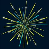 Firework background bark blue color. Vector illustration Stock Image
