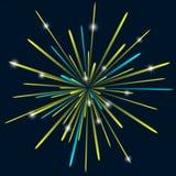 Firework background bark blue color Stock Image