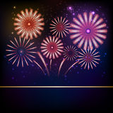 Firework background Royalty Free Stock Photography