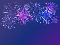 Firework background. Colorful fireworks over dark background Stock Photos