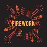 Firework company logo design. Firework background company logo design  illustration Royalty Free Stock Images