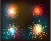Firework background of symbol. Illustration of Firework background of symbol Royalty Free Stock Image