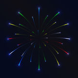 Firework background - 2. Vector firework on in the dark blue sky Stock Photos