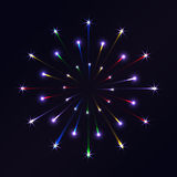Firework background. Vector firework on in the night sky Royalty Free Stock Photo