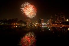 Firework in Bangkok. Royalty Free Stock Images