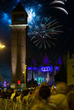 Firework  in Barcelona Royalty Free Stock Photography