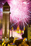Firework  in Barcelona Royalty Free Stock Photos