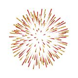 Firework . Beautiful salute on white background. Bright firework decoration for Christmas card, Happy New Year. Celebration, anniversary, festival Vector Royalty Free Stock Photography