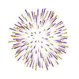 Firework . Beautiful salute on white background. Bright firework decoration for Christmas card, Happy New Year. Celebration, anniversary, festival Vector Royalty Free Stock Photo
