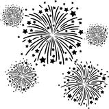 Firework black. Colorful firework on black background Royalty Free Stock Photo