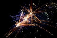 Firework on a black background Royalty Free Stock Photos