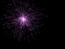 Firework on black background. Digital illustration. Firework on black background.Digital illustration Royalty Free Stock Photo