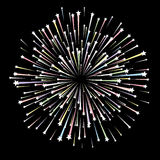 Firework. On black background, vector illustration additional Royalty Free Stock Images