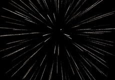 Firework on the black sky background display Stock Image