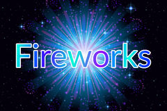 Firework Blue on Black Stock Image