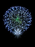 Firework. Brightly Colorful Fireworks isolated black background. New Year celebration fireworks Stock Image