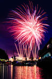 Firework. In Bristol. Gorgeous view on the harbour Stock Images