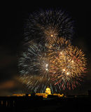 Firework of Budapest. Firework over the Royal Palace in Budapest Stock Images