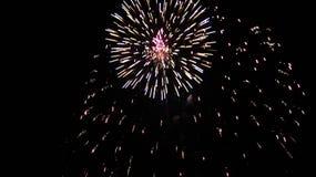 Firework Burst. Independence day fireworks display, double burst Royalty Free Stock Image