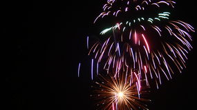 Firework Burst. Independence day fireworks display, multiple burst Stock Photo