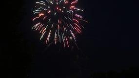 Firework Burst. Independence day fireworks display, small burst Royalty Free Stock Image