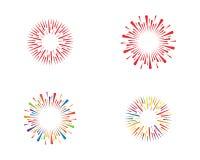 Firework burst rays Vector illustration. Firework burst rays. Vector illustration design template Royalty Free Stock Image