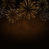 Firework bursting sparkle background gold Royalty Free Stock Photos