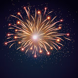 Firework bursting sparkle background Royalty Free Stock Photography