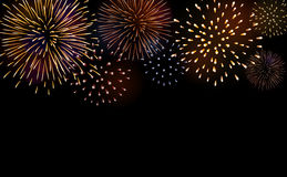 Firework bursting sparkle background set Royalty Free Stock Images