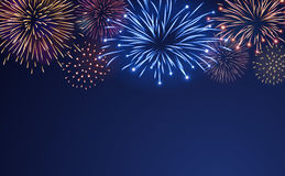 Firework bursting sparkle background set Royalty Free Stock Image