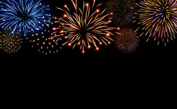 Firework bursting sparkle background set Stock Image