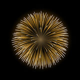Firework bursting sparkle isolated Stock Photography