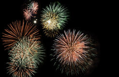 Firework bursts Royalty Free Stock Photo