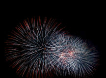 Firework bursts Stock Photography
