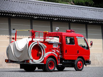 Firework car. A firework car near the Kyoto Imperial Palace wall Stock Photos
