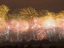 Firework in carcassonne Stock Photos
