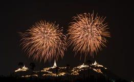 Firework. Celebrate Phetchaburi city festival Royalty Free Stock Images