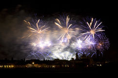 Firework celebration. For Redentore in venice Royalty Free Stock Image