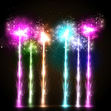 Firework celebration background Stock Image