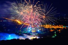 Firework. Celebration Chiangmai, Thailand Stock Photos