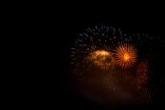 Firework celebration. In dark night sky Royalty Free Stock Photo
