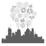 Firework celebration explosion icon. Vector graphic Royalty Free Stock Photo