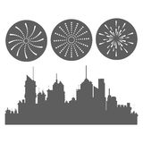 Firework celebration explosion icon. Vector graphic Royalty Free Stock Photos