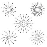 Firework celebration explosion icon. Vector graphic. Firework celebration explosion icon. Isolated and silhouette illustration. Black and White colored. Vector Royalty Free Stock Photo