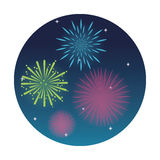 Firework celebration explosion night icon.  Vector graphic Stock Photography