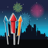 Firework celebration explosion night icon.  Vector graphic Royalty Free Stock Photos