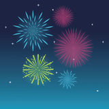 Firework celebration explosion night icon.  Vector graphic Royalty Free Stock Photo
